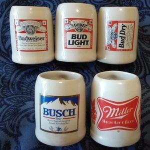 Ceramic 'Beer 'Mug' SHOT GLASS Set